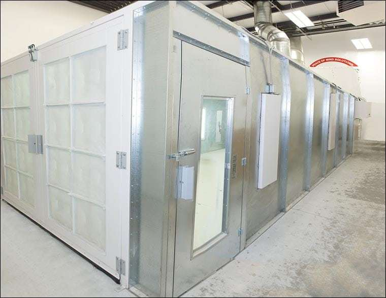 Paint Booth Rental >> Spray Paint Booth Harding S Painting Cleaning Window Washing